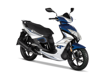 Kymco Super 8 50i 4T E4, silver-blue matt metallic