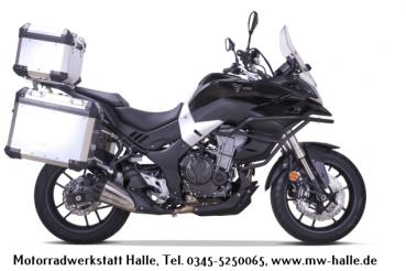 Voge 500 DS Adventure i ABS schwarz mit Adventure-Koffer-Kit